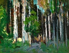 George Bellows (1882-1925) Through the Trees, 1913 - Found on bofransson.tumblr.com