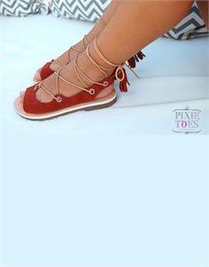 PIXIE TOES Handmade Suede Dulcina Sandals. Shop online: http://www.tilltwelve.com/en/eur/product/1089427/PIXIE-TOES-Handmade-Suede-Dulcina-Sandals/