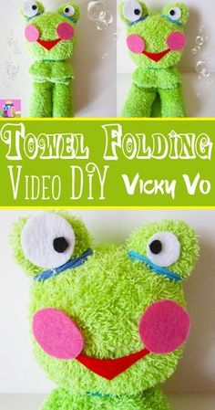 Craft Gifts, Diy Gifts, Frog Crafts, Dyi Crafts, Kids Crafts, Towel Origami, Frog Theme, Towel Animals, Free Stuff By Mail