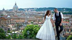 Скачать обои платье, жених, wedding, девушка, мужчина, город, любовь, dress, bride, мост, свадьба, невеста, раздел праздники в разрешении 1366x768