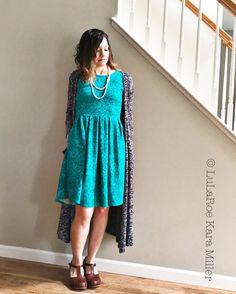 LuLaRoe Amelia dress with Sarah cardigan for Spring fashion trends and Easter.  Shop here: https://www.facebook.com/groups/LularoeKaraMiller/