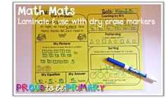 Math Mats are great math tools for spiral review of skills. Four skills are covered on each mat.