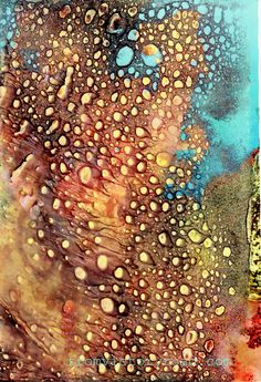 One of my favorite art mediums is using CitraSolv concentrated cleaner on National Geographic pages to dissolve the deep, rich inks into unexpected designs and effects which can be used as elements...