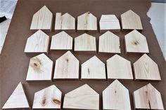 Twenty One unfinished wood house shapes, lightly sanded, wood blocks, mixed media supplies, kids pr Wood Block Crafts, Diy Wood Projects, Projects For Kids, Wood Crafts, Wood Blocks, Christmas Wood, Christmas Crafts, Wood Stars, Japanese Woodworking