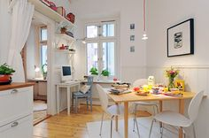 Comfy breakfast nook also by Alvhem Makleri & Interior. I'm not too attracted to the kitchen counter but the nearby workstation is cute.