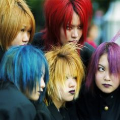 colorful hairs by _poseidon_, via Flickr