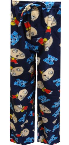 WebUndies.com Family Guy Stewie Griffin Born To Be Bad Fleece Lounge Pants