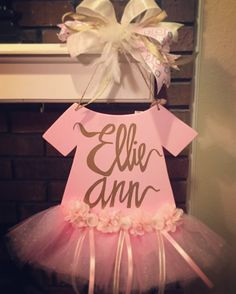 Check out this item in my Etsy shop https://www.etsy.com/listing/470729344/newborn-onesie-hospital-door-hanger-tutu