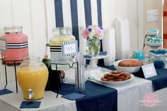 """How cute is this """"something blue"""" bridal shower?  Too bad I don't know anyone getting married anytime soon...."""