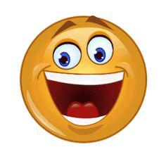 Animated laughing emoji