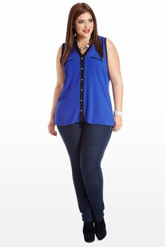 Any Day in the Life Sleeveless Plus Size Blouse