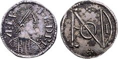 Monogram Penny of Alfred The Great (871-899) http://www.royalmintmuseum.org.uk//collection/collection-highlights/coins/alfred-the-great-penny/index.html