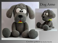 crochet pattern, amigurumi, dog - pdf, English or German on Etsy, $6.00