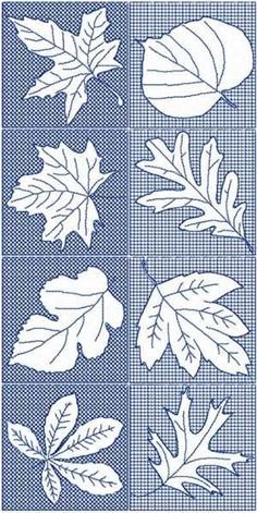 Advanced Embroidery Designs - Leaf Block Set.