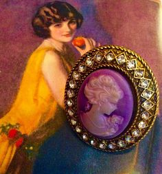 LOVELY LILAC CAMEO RINGS NECKLACES & OTHER ADORNMENTS AVAILABLE AT MOONSHINE NETTIE......OPEN SUNDAY 1PM-5PM  #moonshinenettie#cameo#cameoring#sparkles#costumejewelry#vintageinspired#classisstyle#southernstyle#streetstyle#nolastyle#frenchquarter#followyourola#gorgeous#glamourous#fashion#jewelry#picoftheday#ringoftheday#oldhollywood#glamour by moonshinenettie
