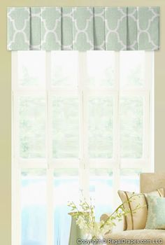 Box Pleat Valance - Featuring a casual pleats to showcase a fabric or provide the perfect accent in any space
