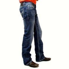 Rock N Roll Cowboy Medium Wash Regular Fit Straight Leg Jeans M1P9567