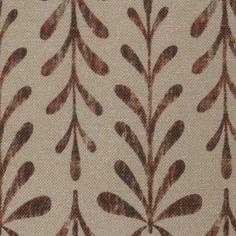 Kaftor Leaf Syrah. Available printed on linen, cotton, cotton linen blends. © Ellen Eden