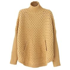 Krralinlin Turtleneck Women's Pullover Out Loose Knitted Hollow Autumn Tan One S Krralinlin http://www.amazon.com/dp/B00YP9GK60/ref=cm_sw_r_pi_dp_q-hDvb1AXX0PG