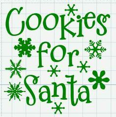 Michelle's Adventures with Digital Creations: Cookies for Santa - free SVG file (Silhouette)