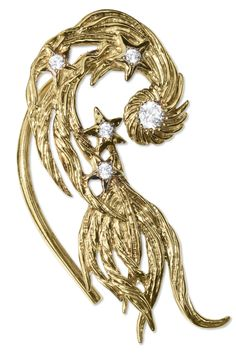 Ear cuff in the shape of swirling feathers, personally worn by Prince. The fanciful piece of jewe