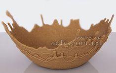 ваза из песка и ПВА