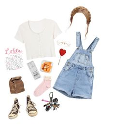 """""""Untitled #111"""" by nina-ci on Polyvore featuring Quinny, Retrò, Topshop, Converse, vintage, cute and lolita"""