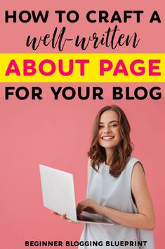 how to craft a well-written about page for your blog | how to write an about page for your blog | your about page can be your most visited page on your #blog and can turn your readers into loyal fans #blogging #bloggingtips #growyourblog Tumblr, Social Media Statistics, Wordpress, About Me Page, Le Web, Blog Planner, Writing Tips, Creative Writing, Blogger Tips