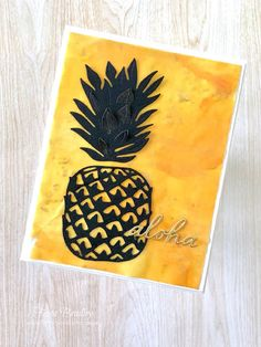 Aloha - Timeless Tropical - In the Tropics - Pineapple - rubbing alcohol - reinkers - Stampin' Up! - Fiona Bradley Rubbing Alcohol, My Crazy, Flamingo, Stamping, Pineapple, Tropical, Ocean, Mini, Summer