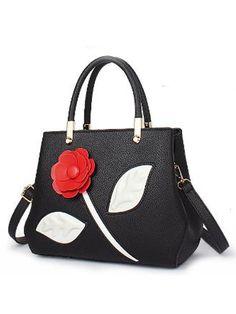 e1271637766 Elegant Solid Flower Decoration Simple Stylish Hang Bag Fashion Handbags, Tote  Handbags, Fashion Bags