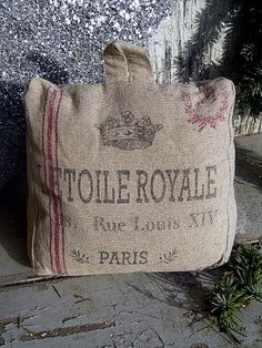 grain sack portable pillow