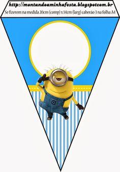 Banderines de los Minions.