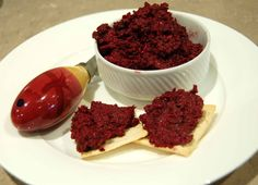 In my Thermomix: Beetroot and mint pesto - www.cooks-notebook.com.au