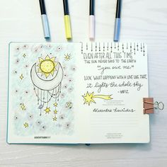 For each new bullet journal I set up, I like to choose a theme and quote to set the tone for what I feel drawn to at a specific moment of… Bullet Journal Quotes, Bullet Journal Themes, Bullet Journal Layout, Bullet Journal Inspiration, Magic Theme, Diary Ideas, Creative Journal, Moonchild, Smash Book