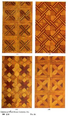 Parquet floor designs from Tile and Parquetry Designing Manual, 1916.
