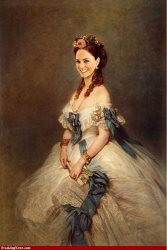 Duchess Kate in a different time period. This shows that she can truly look stunning in anything.