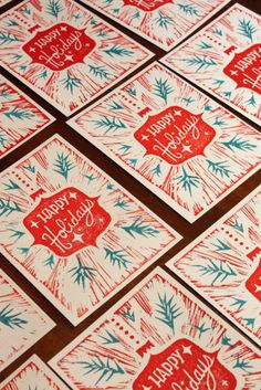 Happy Holidays letterpress