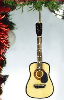 """Broadway Gifts Company Musical Ornament, 5"""" String Guitar w/ Pick Guard"""