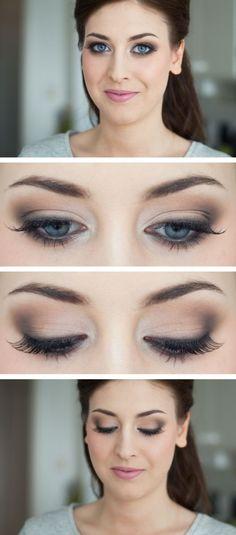 eye make up - eyeshadow - smoky eyes - glam look Pretty Makeup, Love Makeup, Makeup Inspo, Makeup Inspiration, Makeup Tips, Makeup Looks, Makeup Ideas, Simple Makeup, Simple Everyday Makeup