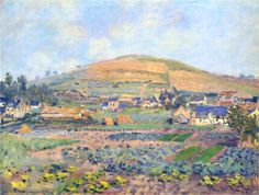 The Mount Riboudet in Rouen at Spring, 1872 Claude Monet