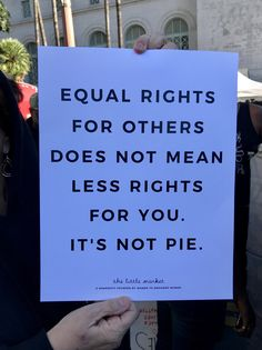 It is NOT pie. I'm finding that problematic because I love pie. But I also love equal rights for all. But... pie. I'm stuck thinking about pie!
