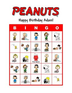 Peanuts Snoopy Charlie Brown Birthday Party Game Bingo Cards in Everything Else, Every Other Thing Teenage Party Games, Tween Party Games, Princess Party Games, Dinner Party Games, Birthday Party Games, Birthday Ideas, 21st Party, Sleepover Party, Fancy Party