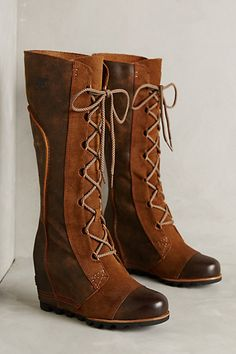 Sorel Cate The Great Wedge Boots #anthropologie