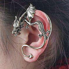 bazige persoonlijkheid retro stereo dragon oorknopjes (willekeurige kleur) - EUR € 0.95