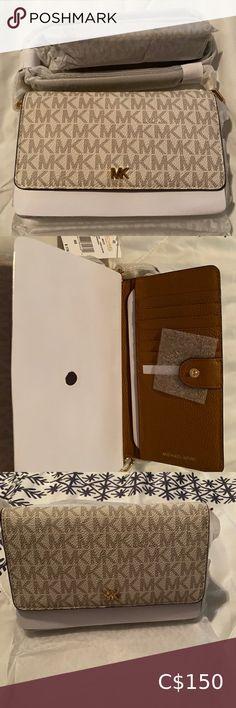 Authentic MK crossbody bag Brad new MK crossbody bag, available in vanilla and brown Michael Kors Bags Crossbody Bags Micheal Kors Crossbody Bags, Large Crossbody Bags, Leather Crossbody Bag, Leather Purses, Michael Kors Selma, Michael Kors Jet Set, Side Purses, Tan Handbags, Mk Purse