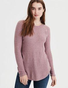 523f12a21a34b AE Soft   Sexy Plush Classic Pullover Sweatshirt in Lavender Crew Neck  Sweatshirt