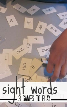 Check out these 3 all-time favorite games to play with sight words! Use these ideas for learning vocabulary or letters, too! #teachmama #weteach #freeprintable #learninggames #words #sightwords #vocabulary #educationalactivity #learningactivities