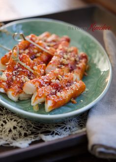 Rice Cake Skewers by @beyondkimchee