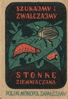 polish matchbox label Art Deco Posters, Vintage Posters, Vintage Art, Vintage Packaging, Vintage Labels, Historic Posters, Polish Posters, Matchbox Art, Vintage Graphic Design