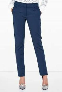 00a408ed70e Navy Tokio Long Trousers By Sportmax Ladies UK Size 8 92 g